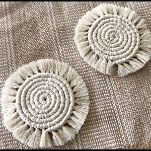 Other - Set of two Handmade boho coasters